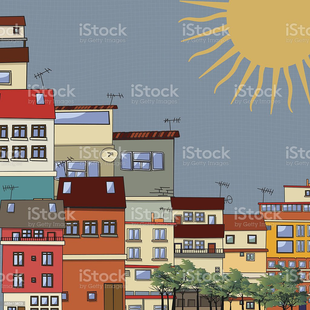 City hot vector art illustration