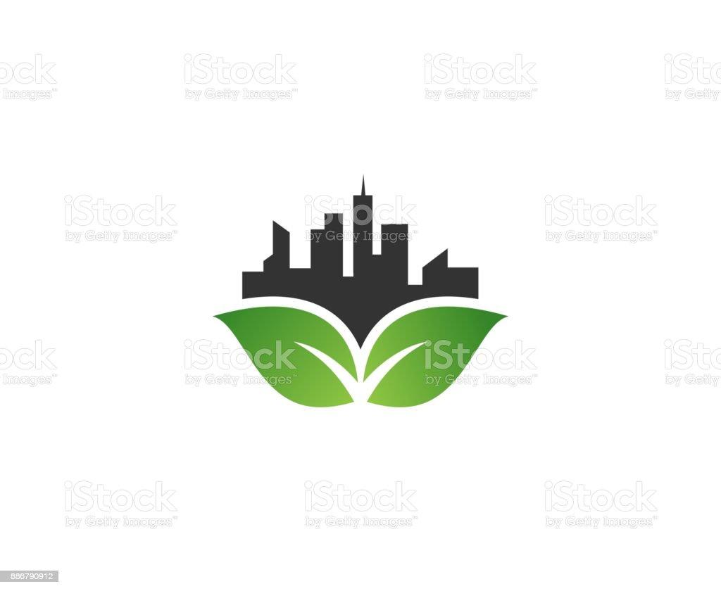 City icon vector art illustration
