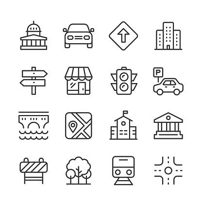 City Icons — Monoline Series