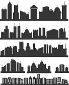 City icons set
