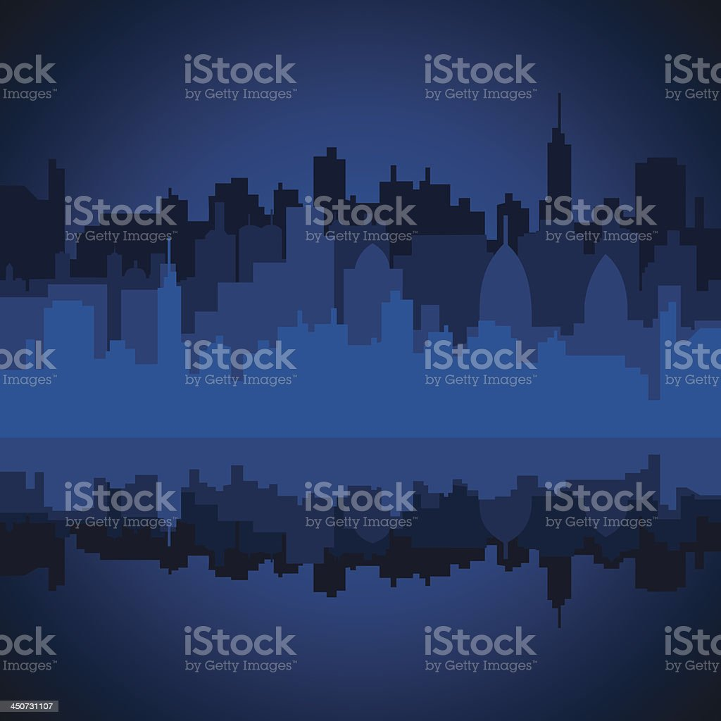 city in night royalty-free stock vector art