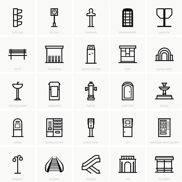 ilustrações, clipart, desenhos animados e ícones de infraestrutura da cidade - banco assento