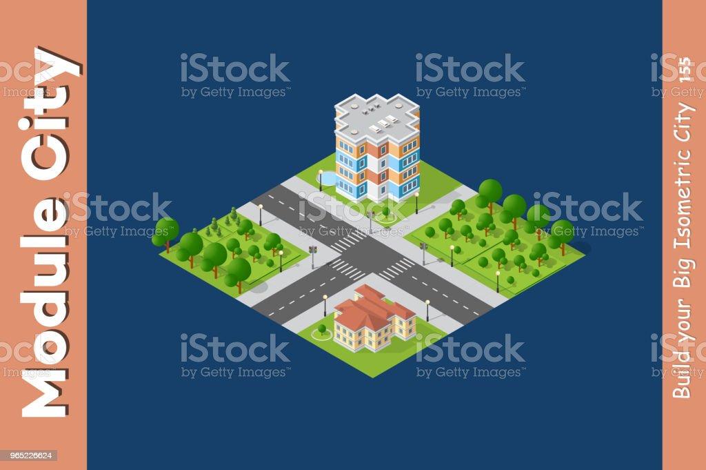 City isometric set city isometric set - stockowe grafiki wektorowe i więcej obrazów architektura royalty-free