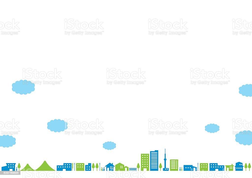 City landscape   Noon vector art illustration