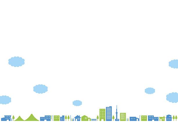 city landscape   noon - 町点のイラスト素材/クリップアート素材/マンガ素材/アイコン素材