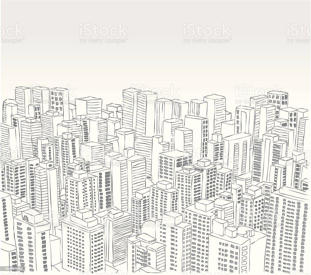 city landscape vector art illustration