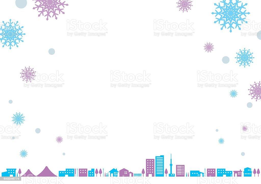 City landscape  Winter ベクターアートイラスト