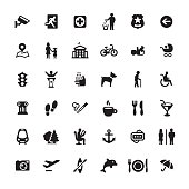 City life and Public Space - icons set