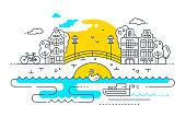 City Life - line design composition