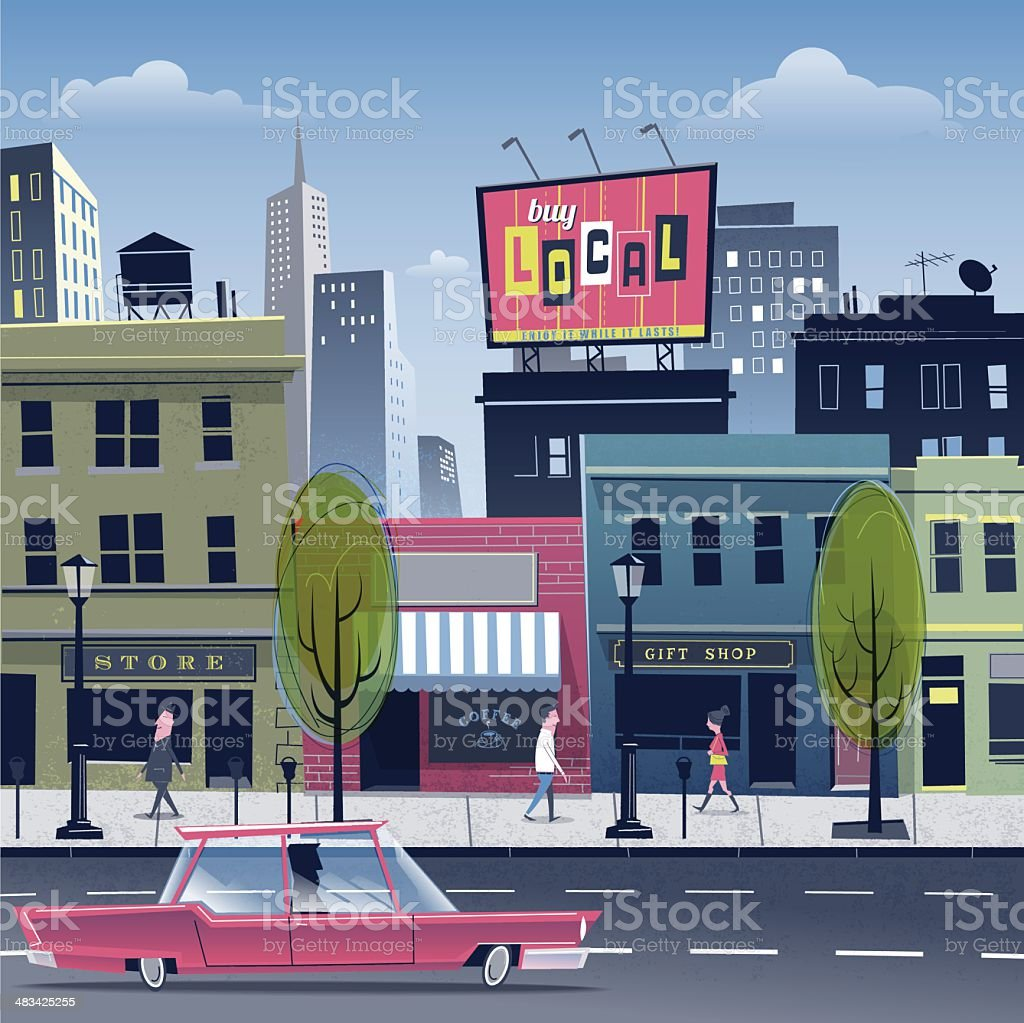 City life vector art illustration