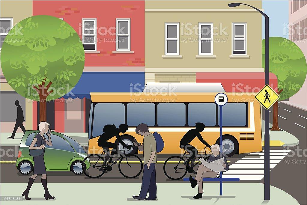 Vida da cidade - ilustração de arte em vetor