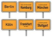 City limits signs of major german cities, Part 1