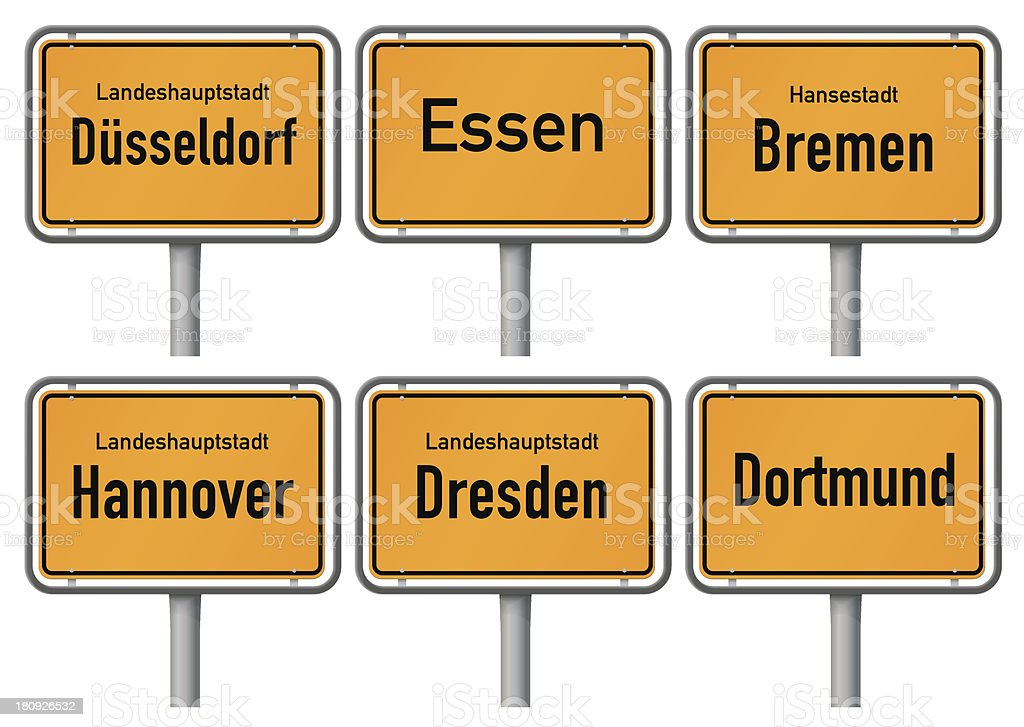 City limits signs of major german cities, Part 2