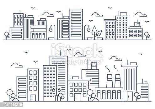 istock City line illustration 1214019215