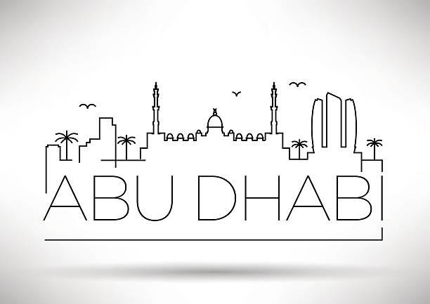 miasto linii sylwetka szorty to już coś znacznie więcej design - abu dhabi stock illustrations