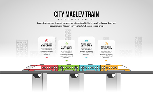 City Maglev Train Infographic