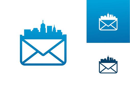 City Mail Logo Template Design Vector, Emblem, Design Concept, Creative Symbol, Icon