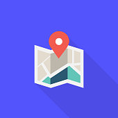 City Map Flat Icon Design