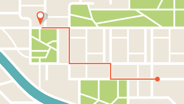 City map navigation. GPS navigator. Point marker icon. Top view, view from above. Abstract background. Cute simple design. Flat style vector illustration. City map navigation. GPS navigator. Point marker icon. Top view, view from above. Abstract background. Cute simple design. Flat style vector illustration. global positioning system stock illustrations