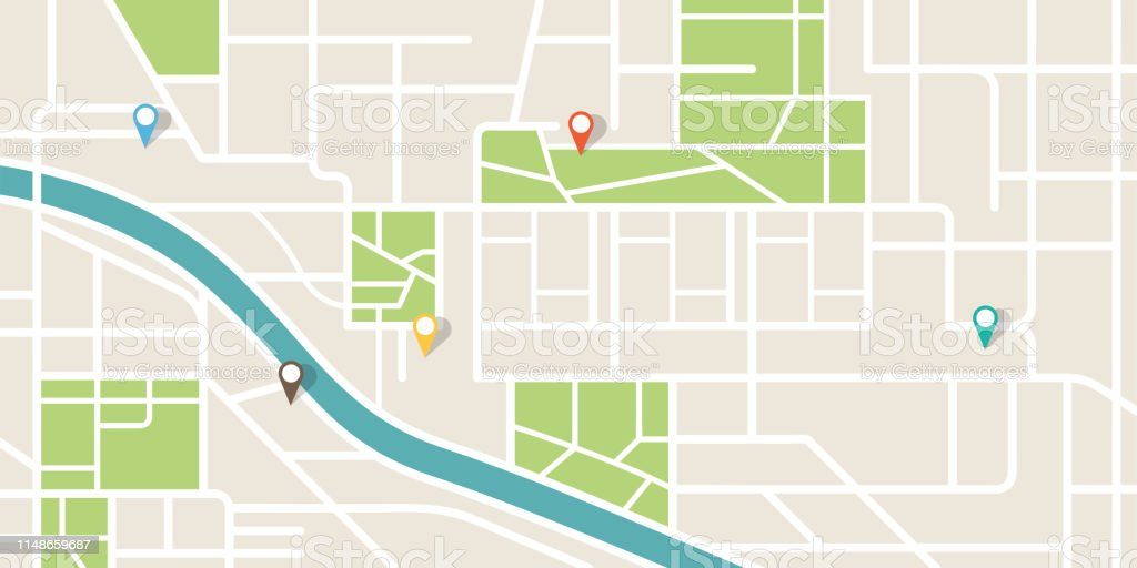 City map navigation. GPS navigator. Point marker icon. Top view, view from above. Abstract background. Cute simple design. Flat style vector illustration. City map navigation. GPS navigator. Point marker icon. Top view, view from above. Abstract background. Cute simple design. Flat style vector illustration. Above stock vector
