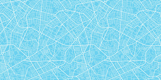 City map navigation City map navigation seamless texture cityscape stock illustrations