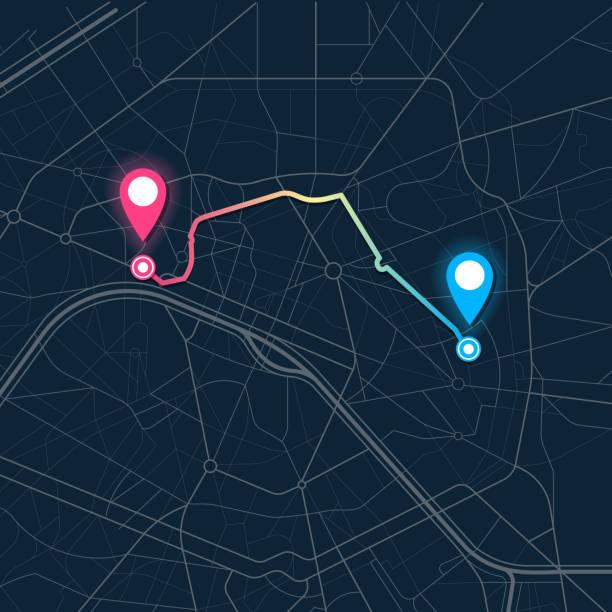 stadt-kartennavigation - sehenswürdigkeit stock-grafiken, -clipart, -cartoons und -symbole