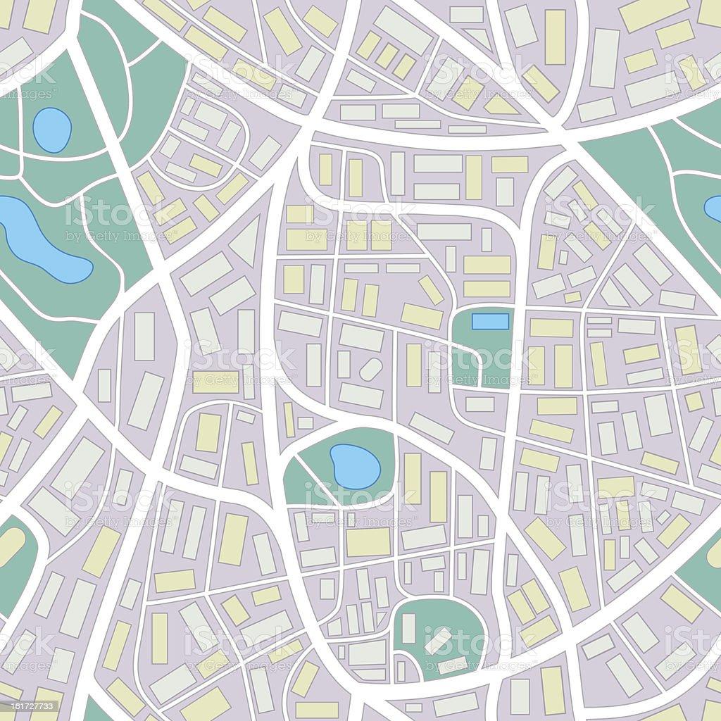 city map - seamless pattern vector art illustration