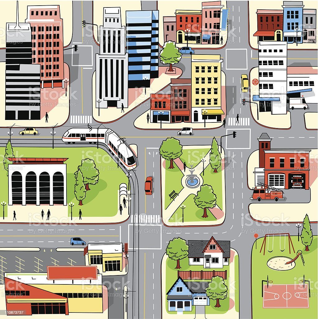 City Map Stock Illustration - Download Image Now - iStock