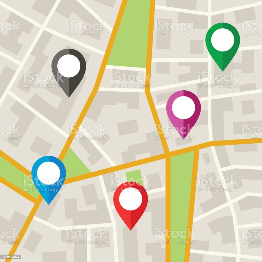 City Map vector art illustration