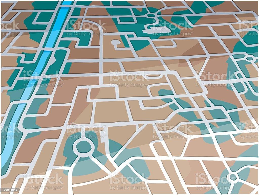 Mapa de la ciudad - arte vectorial de Aire libre libre de derechos