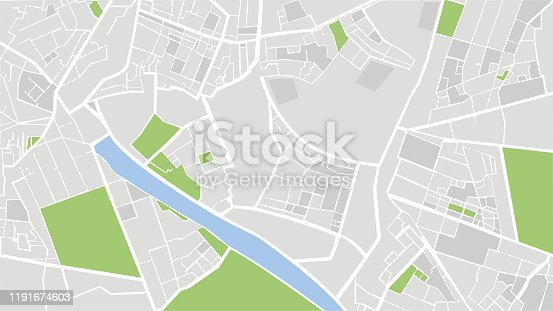 istock City map vector illustration. 1191674603