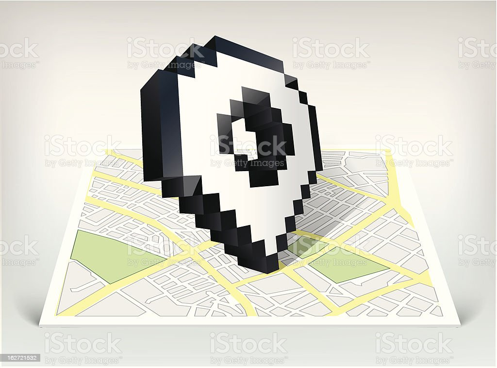 City map with pointer cursor icon vector illustration royalty-free stock vector art