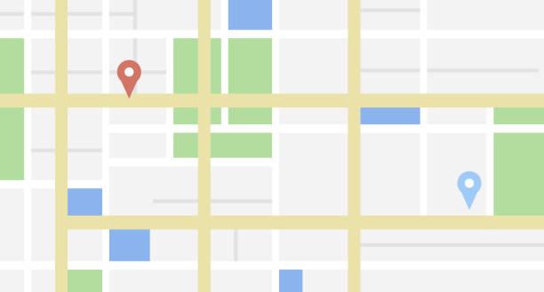 bazı konum etiketleri ile şehir haritası - google stock illustrations