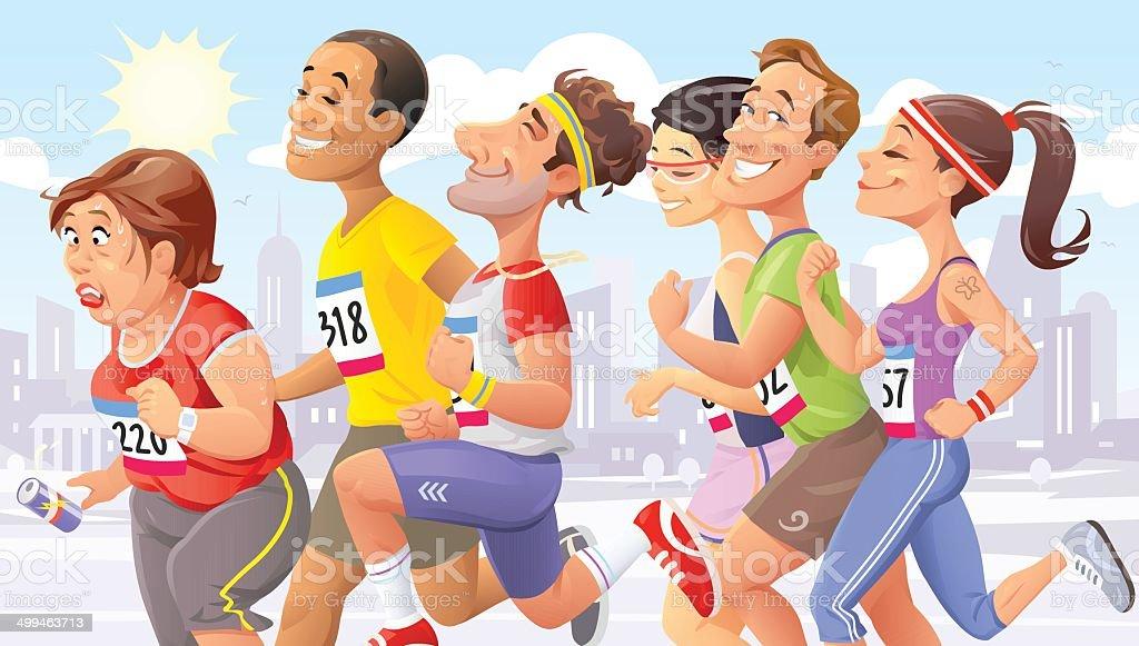City Marathon royalty-free stock vector art