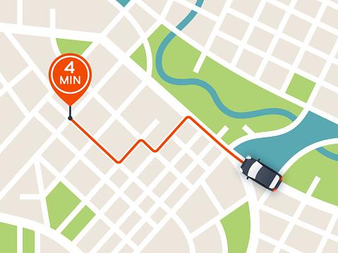 City Navigation Driving Map