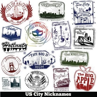 US City Nickname Stamps