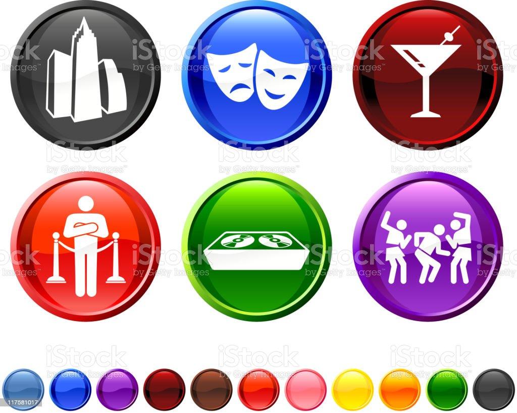 city nightlife fun royalty free vector icon set royalty-free stock vector art