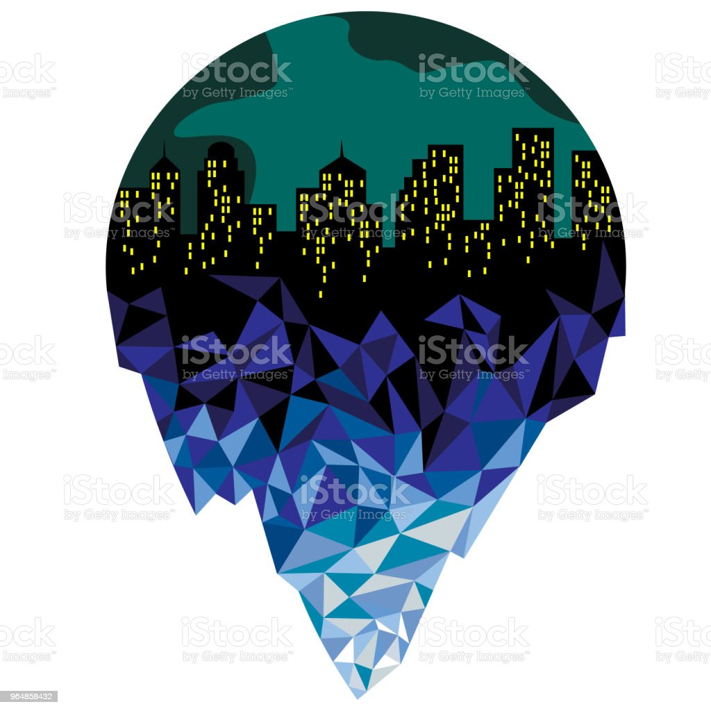 City of iceberg against the background of planet earth. royalty-free city of iceberg against the background of planet earth stock vector art & more images of abstract