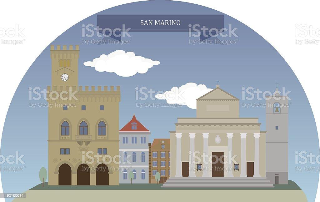 City of San Marino vector art illustration