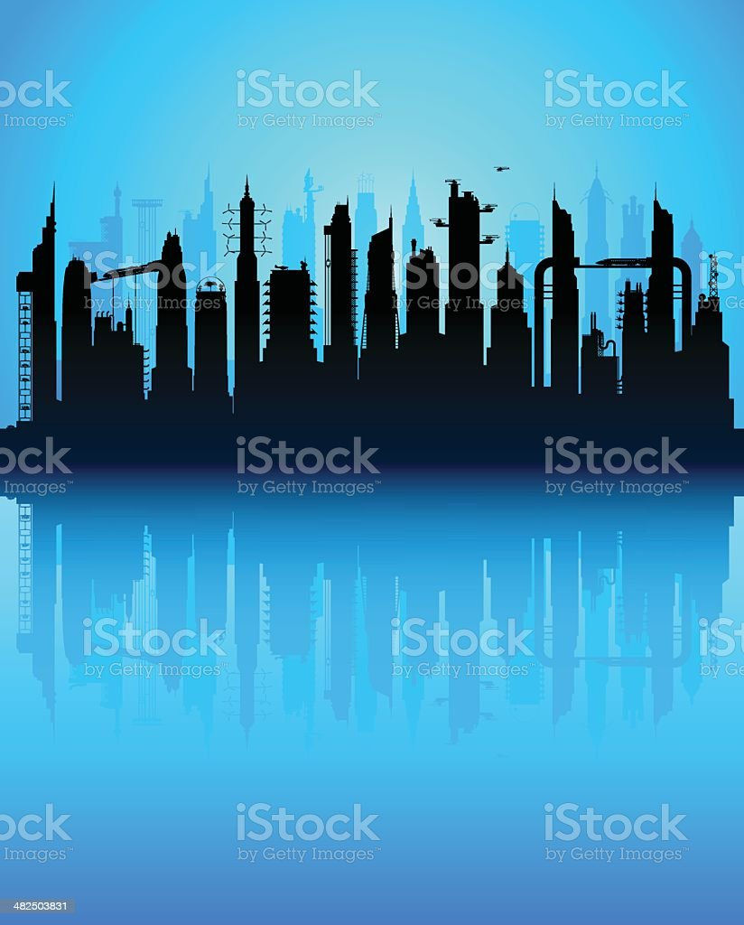 City of the Future royalty-free city of the future stock vector art & more images of architecture