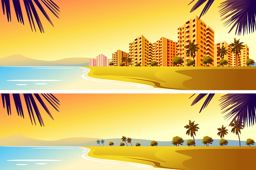 City on Beach