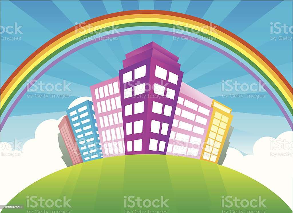 City on hilltop royalty-free city on hilltop stock vector art & more images of apartment