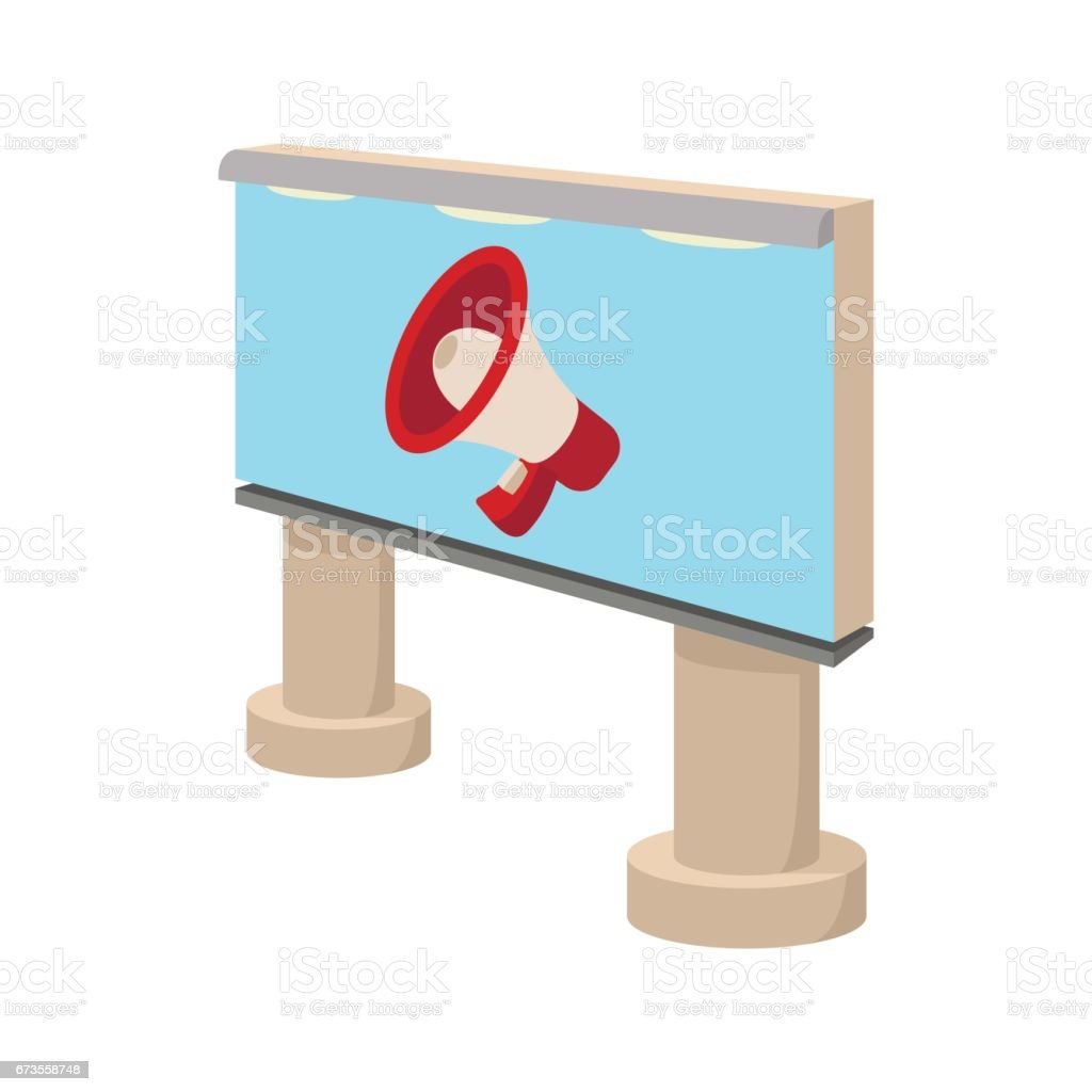 City outdoor billboard icon, cartoon royalty-free city outdoor billboard icon cartoon stock vector art & more images of advertisement