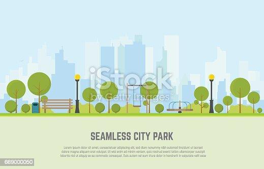 City park seamless background