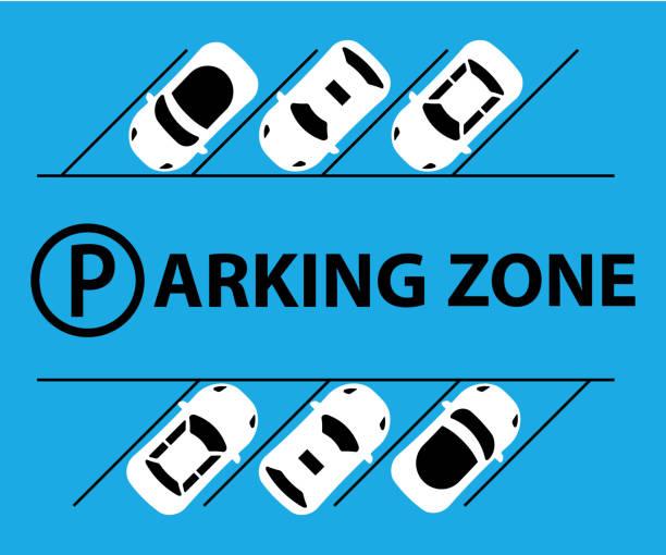 stockillustraties, clipart, cartoons en iconen met stad parkeerplaats illustratie vector web banner. openbare parkeerplaats. platte stijl. tekort aan parkeerplaatsen - parking