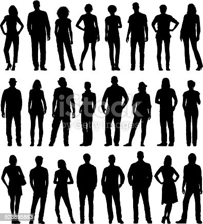 City people silhouettes. Please take a look at other work of mine linked below.
