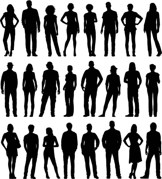 City People Set City people silhouettes. Please take a look at other work of mine linked below.  in silhouette stock illustrations