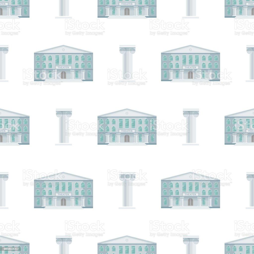 Bâtiments Publics Ville Abrite Transparente Motif Fond Design Plat Bureau  Architecture Moderne Appartement Rue Vector Illustration