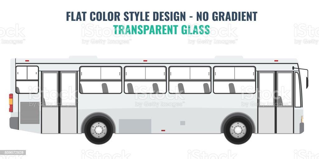市公共バス広告テンプレート平面ベクトル アゼルバイジャンのベクター