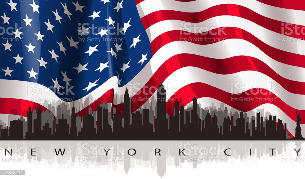 city scenic vector art illustration